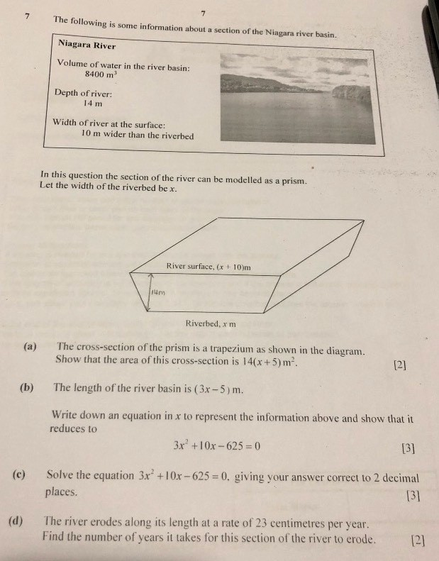 i can't find the cross sectional area of the trapezium ...