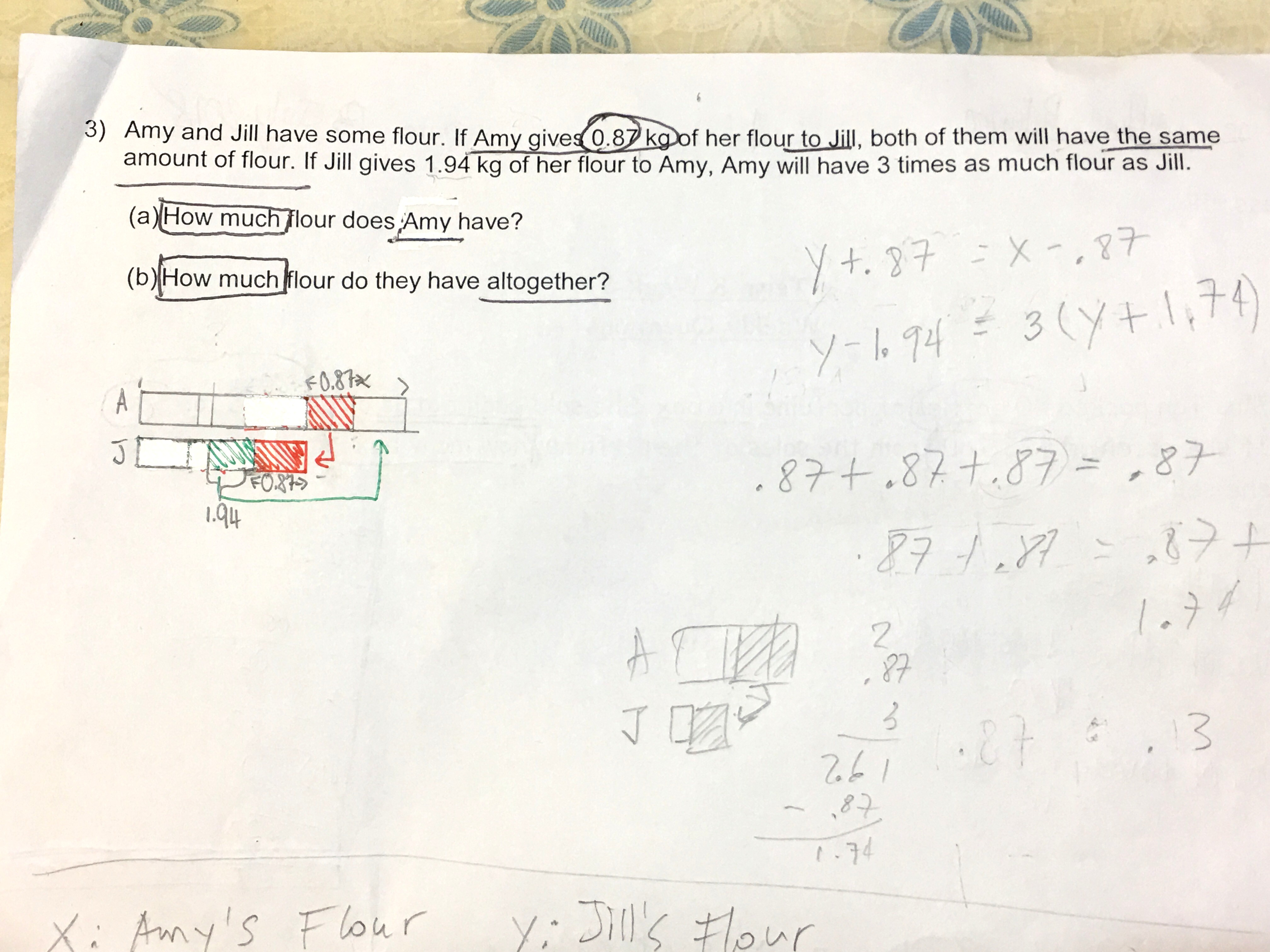 Primary 5 Maths Practice - Singapore Homework Questions